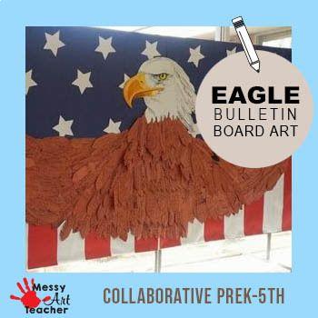 Eagle Bulletin Board Display for Patriots Day or Veterans Day #veteransdayartprojects