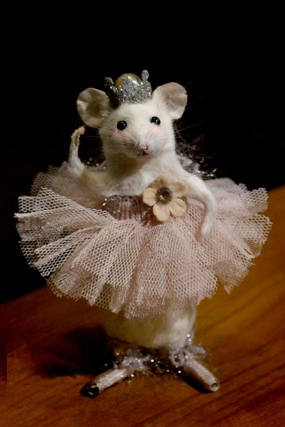 Ballerina Taxidermy Mouse   sounds like a decoration in a