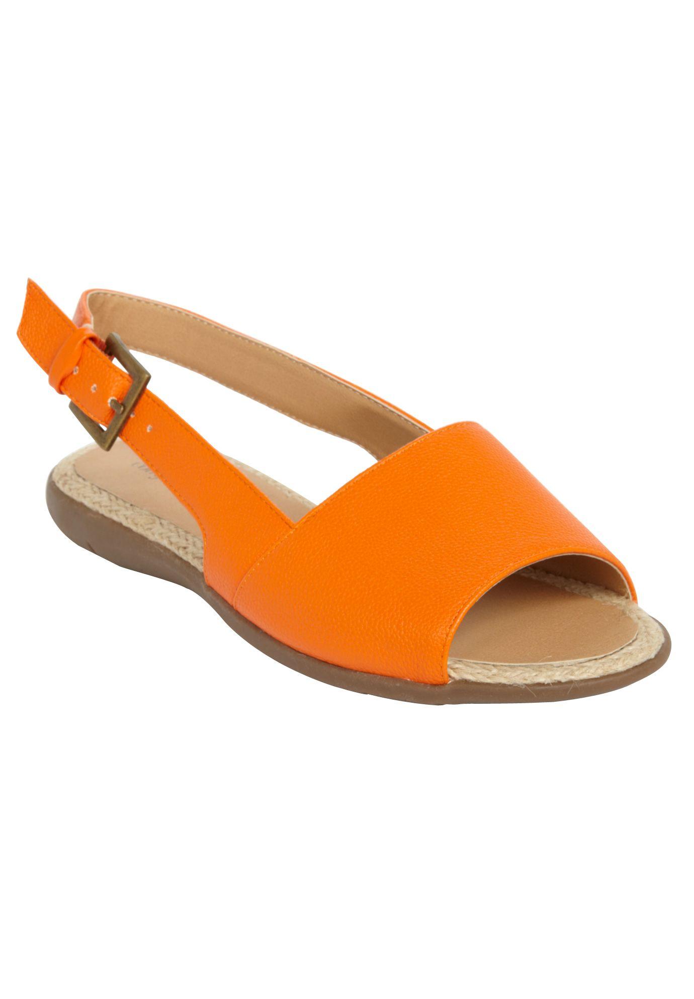 1322dbc62024 Wide Width Adele open-toe slingback sandal by Comfortview® Energy Flex®