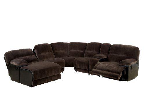 Furniture Of America Ladden Elephant Skin Microfiber Sectional