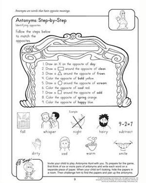 Antonyms Step By Step Free 2nd Grade English Worksheet Dengan