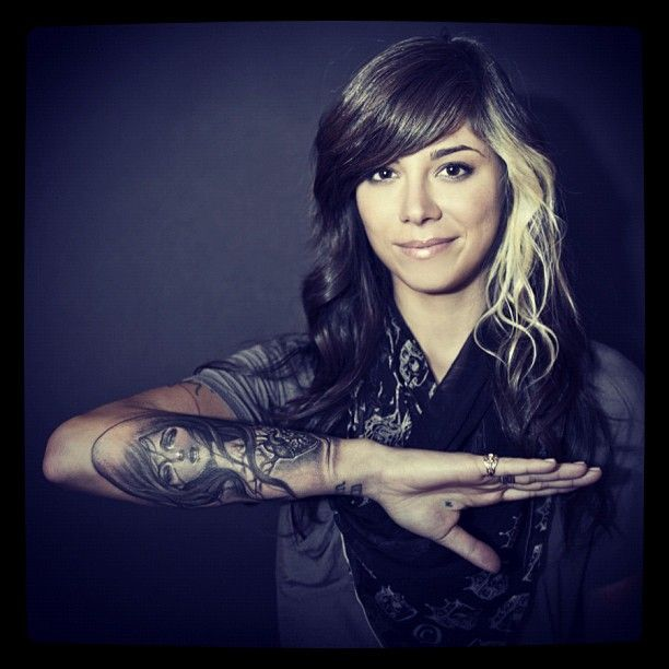 Christina Perri Love The Tattoo And Her Hair Too Skin