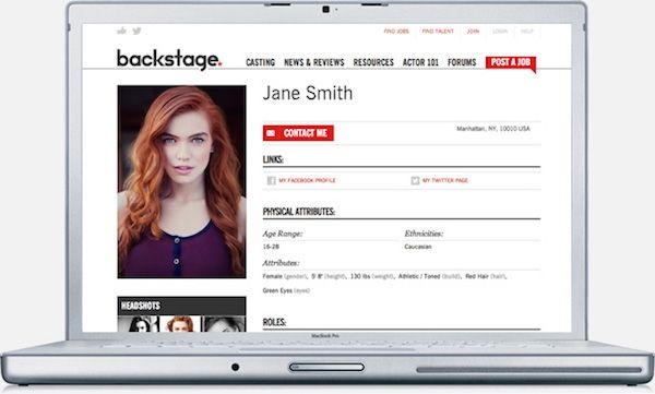 6 Tips To Get The Most From Your Backstage Profile Acting Lessons Acting Resume Backstage