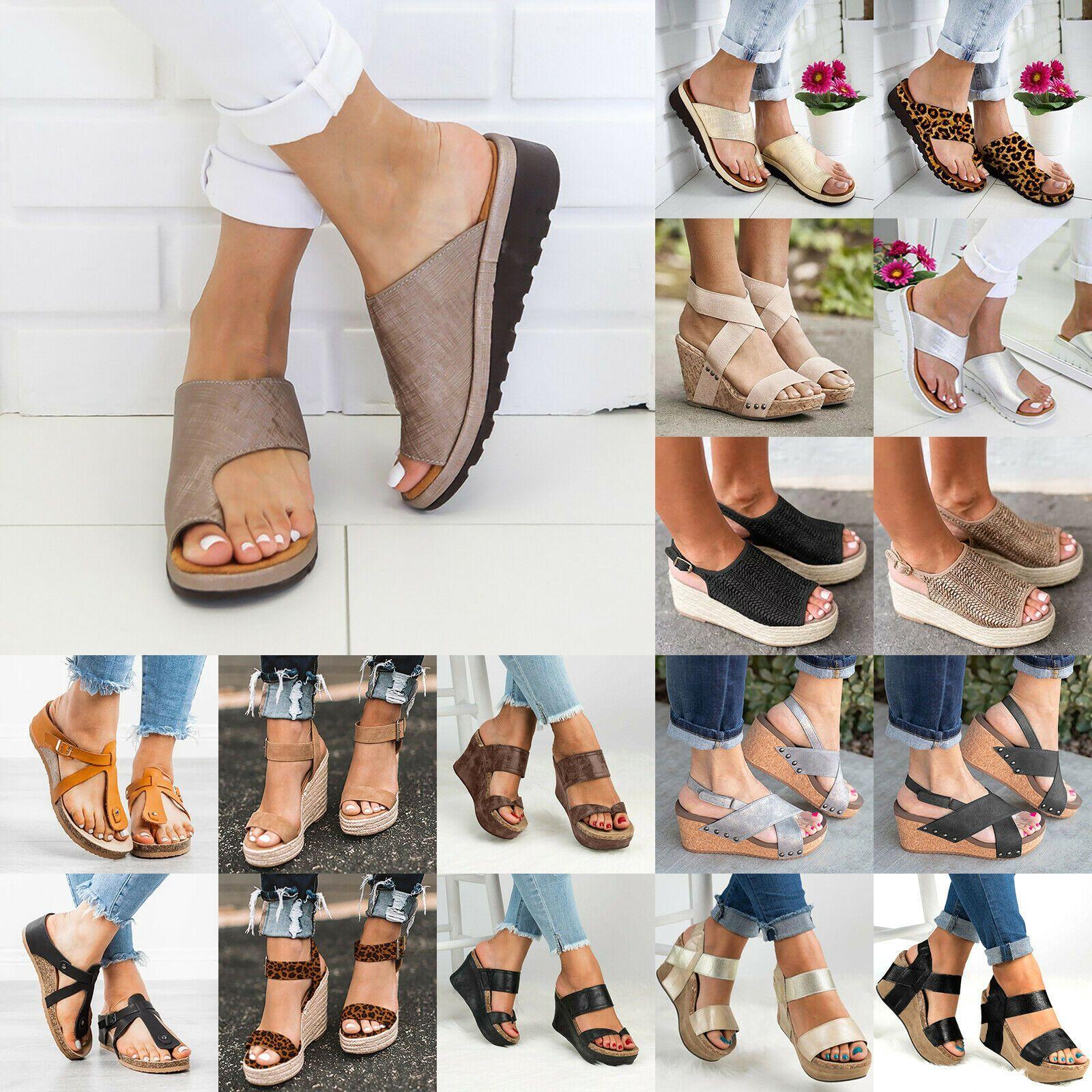 Flops Platform Heels Flip Sandals Beach Keilabsatz Badelatschen Sommer Sandalen
