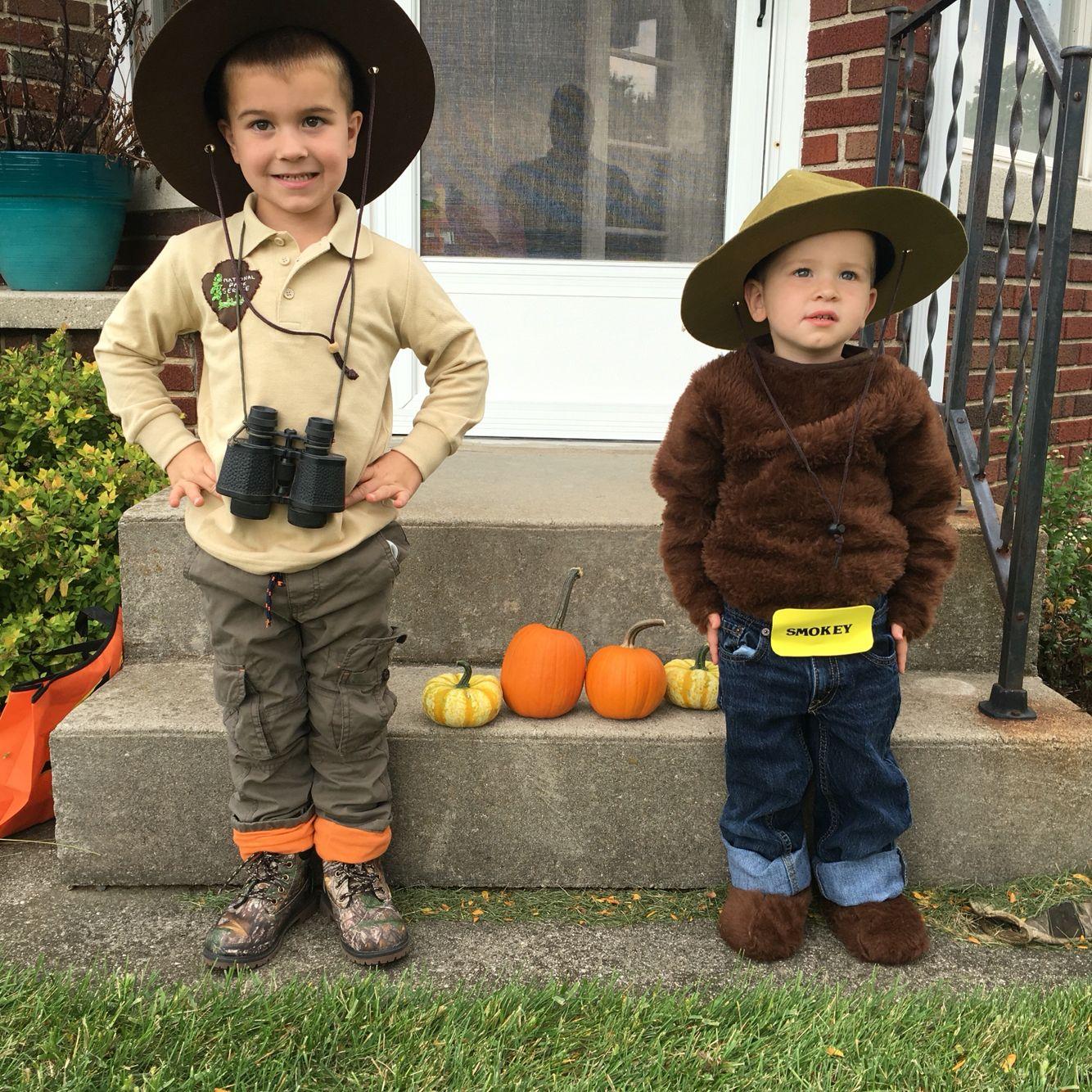 park ranger and smokey bear siblings costume ❤ | halloween