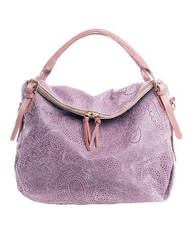 Look what I found on #zulily! Rose Paisley Fold Over Leather