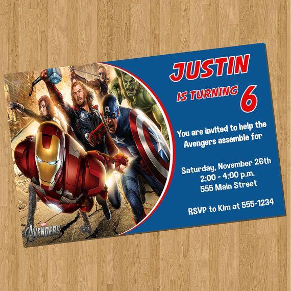 Avengers Birthday Invitations Avengers Invitations Pinterest - Avengers birthday invitation wording