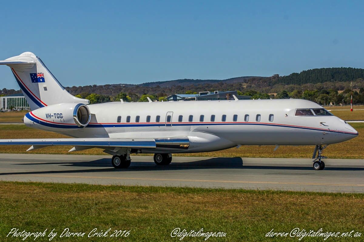 VH-TGG Bombardier Inc. Global Express at Canberra Airport #avgeek #aviation #photography #canon #cbr #spotter #canberra