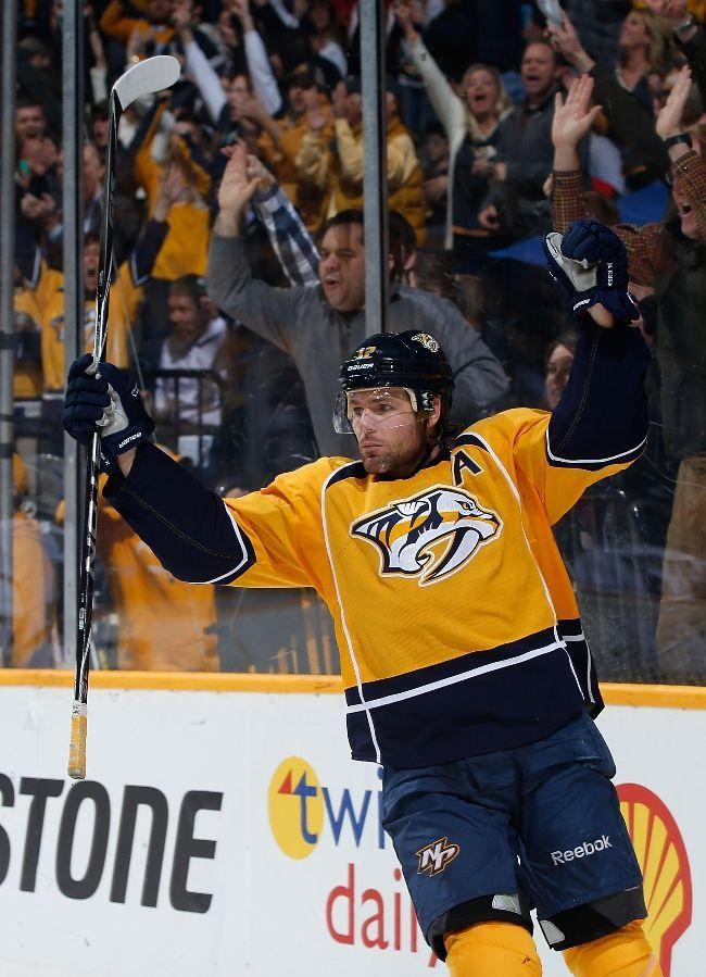 Mike Fisher 2 25 13 Nashville Predators Nashville Predators Hockey Nashville