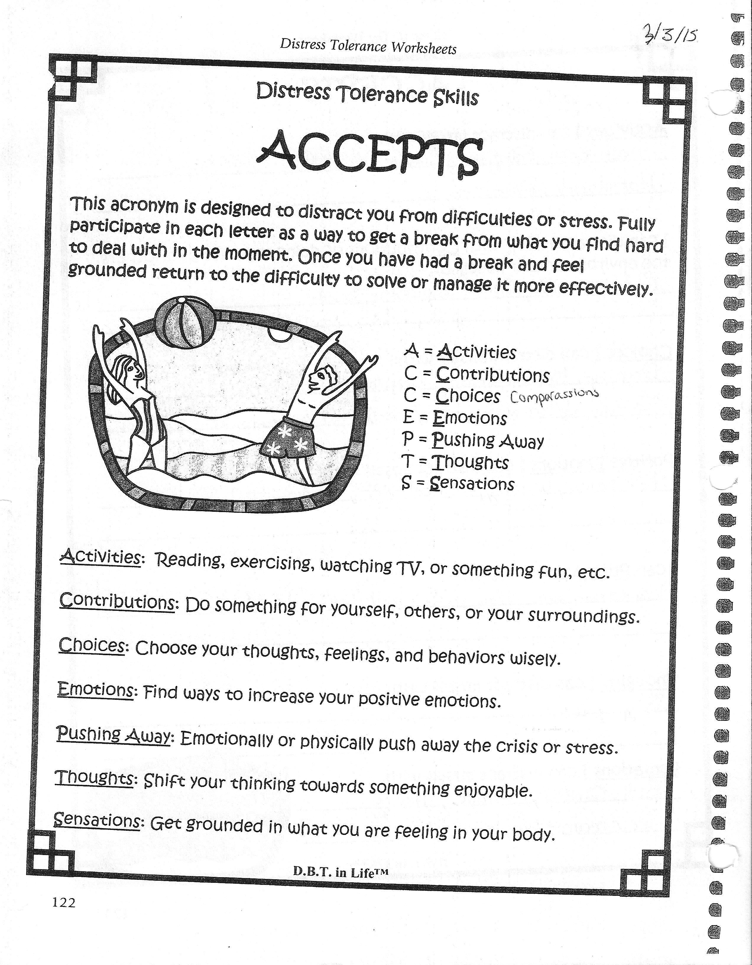 Dbt Distress Tolerance Accepts Worksheet