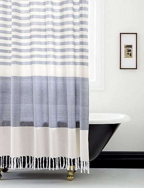 Reminiscent Of Turkish Towels Youll Find At High End Spas Our 100 Cotton Shower Curtain