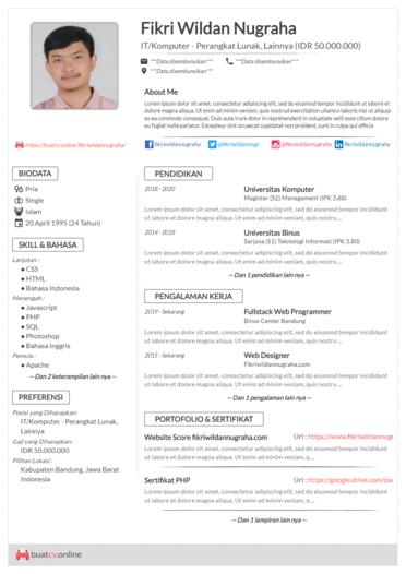 Pin Oleh Airin Putri Di Kpp Cv Kreatif Desain Resume Desain Cv