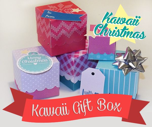 Not only for Christmas! Kawaii Gift Box is the printable box to build and customize with our colour combinations. Use it for your presents and give it to someone you love ♥