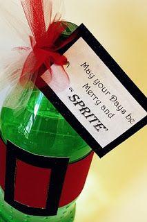 christmas gift idea or teacher gift idea santa sprite could attach a gift card room mom 101 christmas
