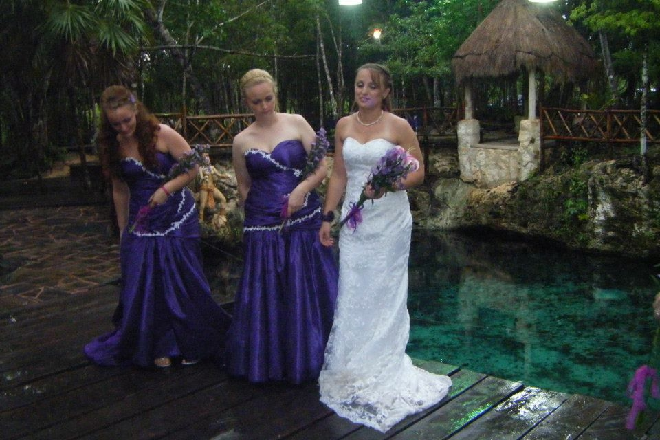 Bride At Cenote Jungle Wedding Location In Cancun Riviera Maya Mexico O Best Place For Destination OBest All Inclusive Weddings