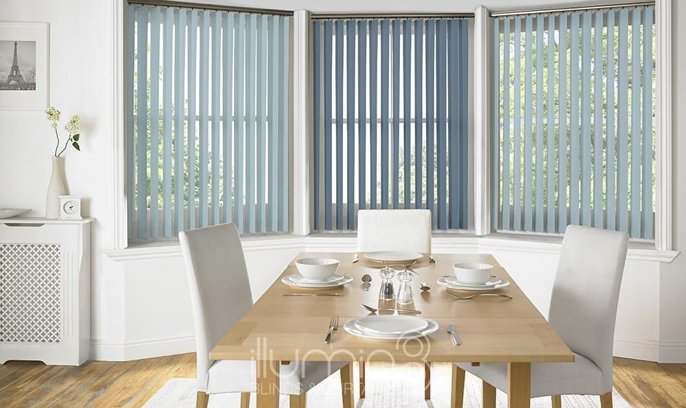 These Blue Porto Vertical Vertical Blinds Are Available In