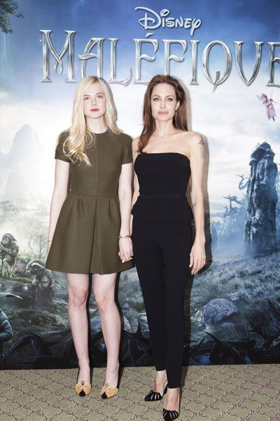 Elle Fanning and Angelina Jolie Photo