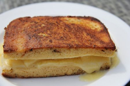 Coconut Bread Grilled Cheese