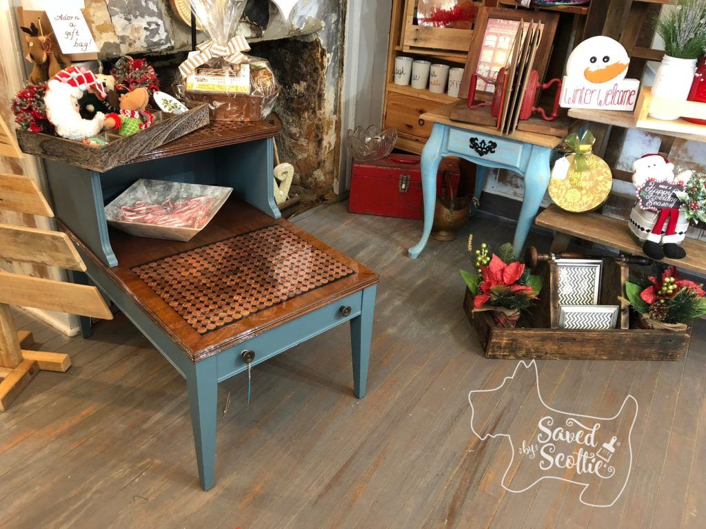 November Fab Furniture Flippin' making a penny table - Saved by Scottie