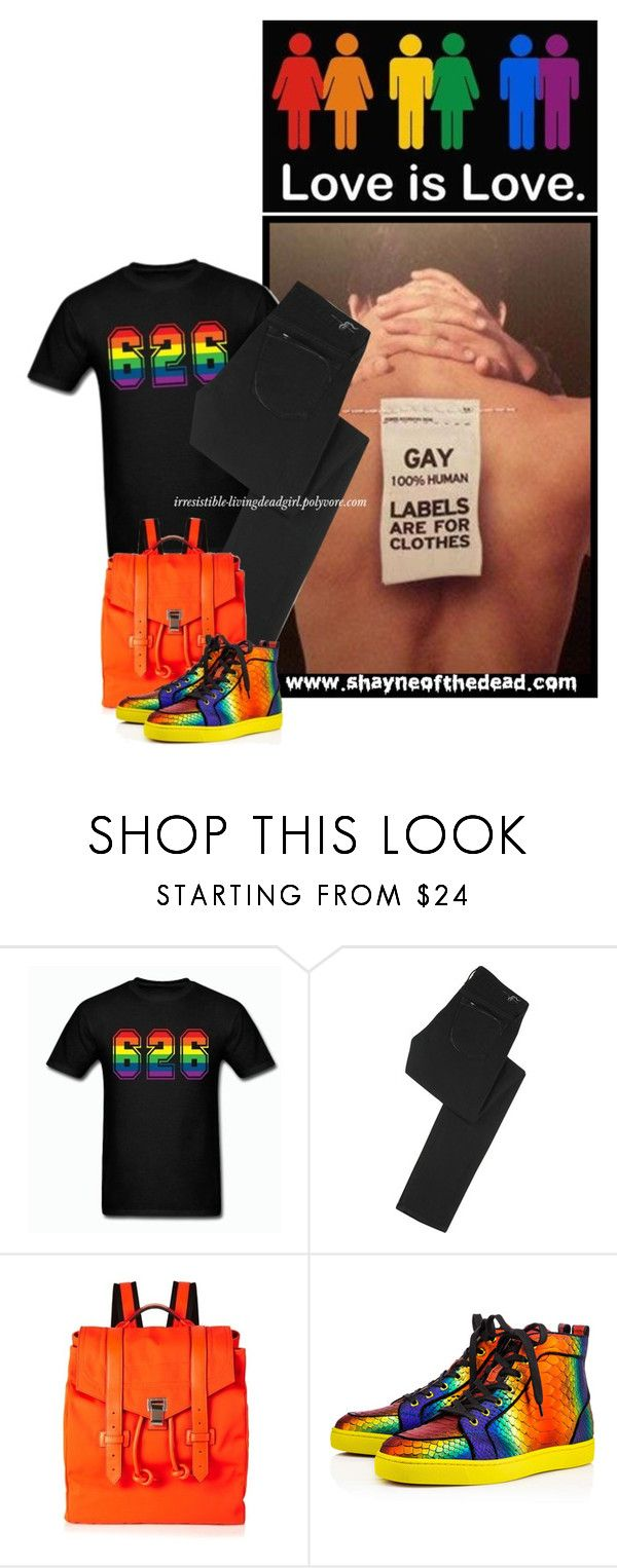 """Shayne of the Dead (28)"" by irresistible-livingdeadgirl ❤ liked on Polyvore featuring Earnest Sewn, Proenza Schouler, Christian Louboutin, men's fashion, menswear, emo, gay, christianlouboutin, shayneofthedead and bullying"