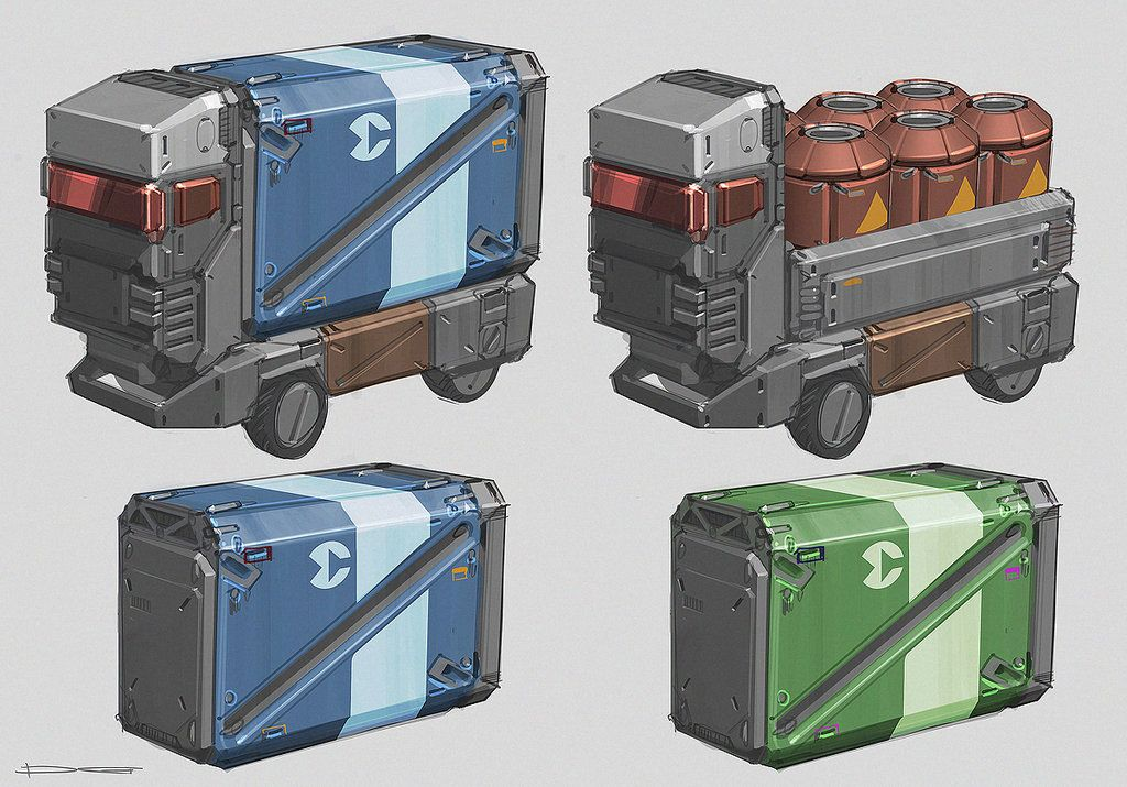 Space Containers Qr Props 02 By Talros On Deviantart Sci Fi