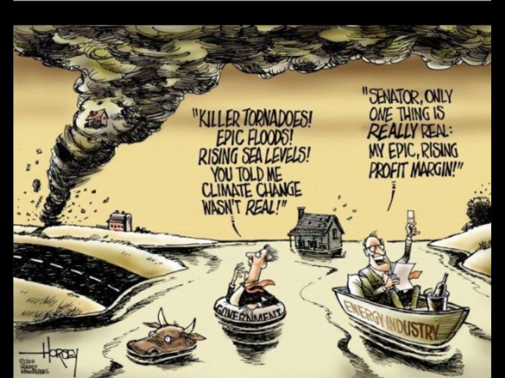 Global warming cartoon earth