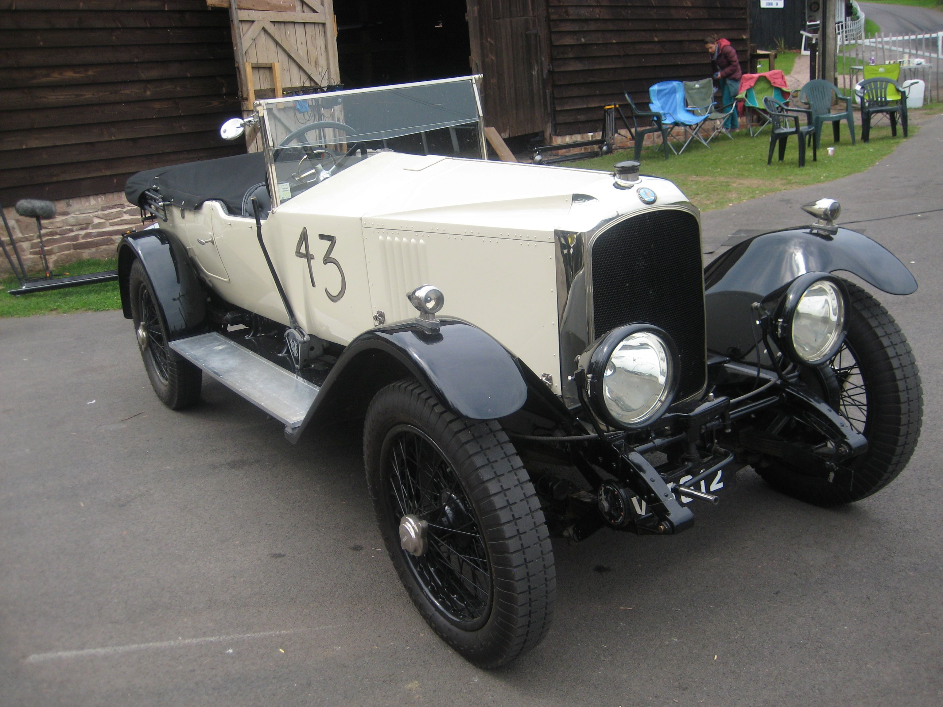 Lovely Vauxhall at Shelsley Walsh Father Brown episode