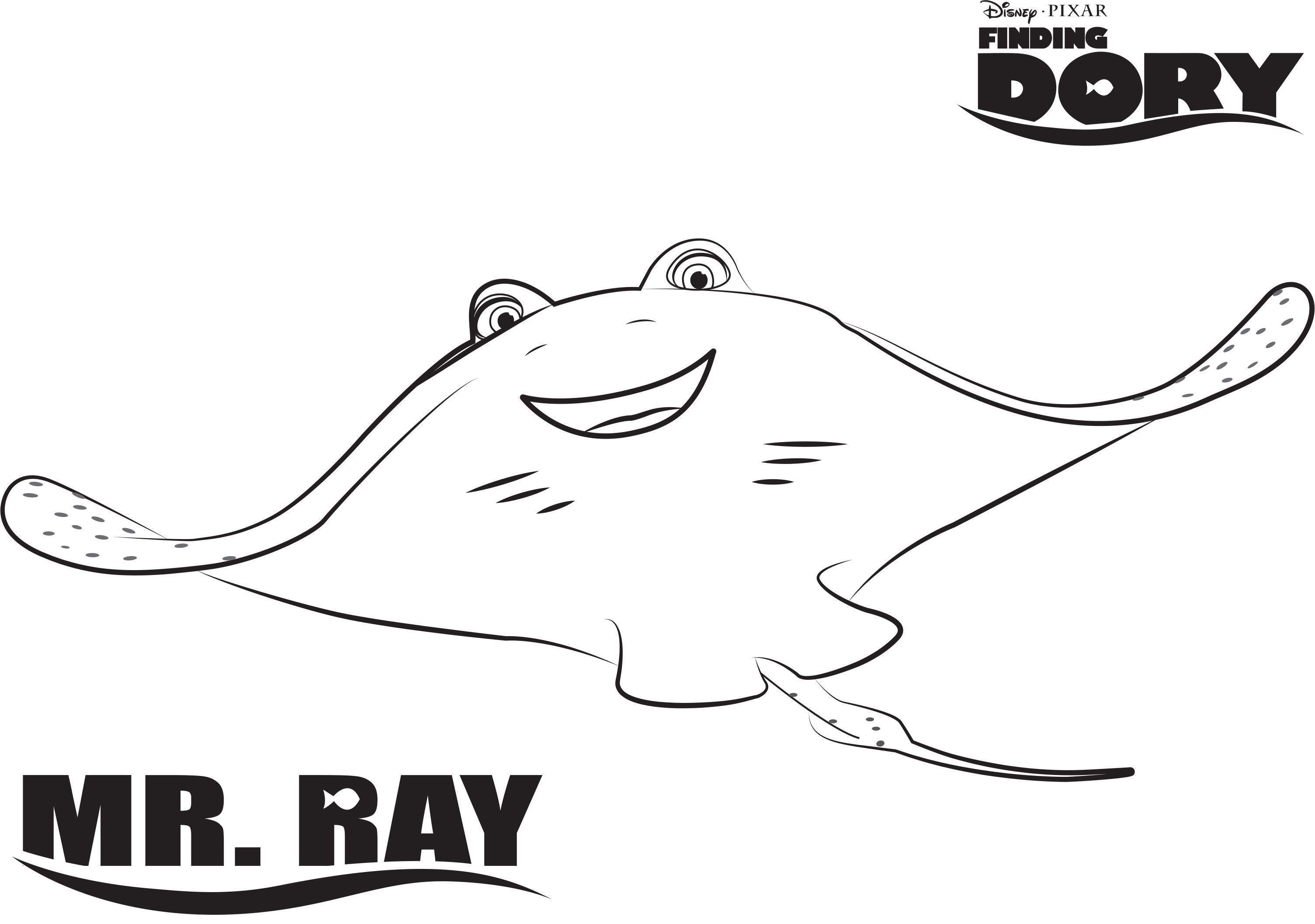 Finding Dory Kleurplaten Mr Ray Nemo Coloring Pages Finding Nemo Coloring Pages Coloring Pages