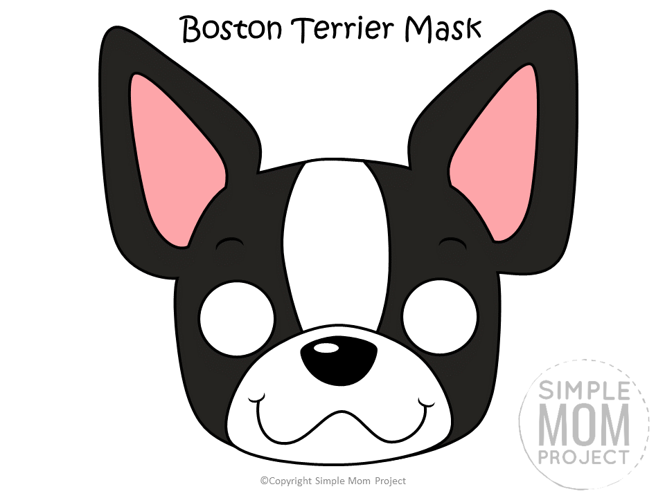 Dog Face Mask Templates Simple Mom Project Dog Template Dog