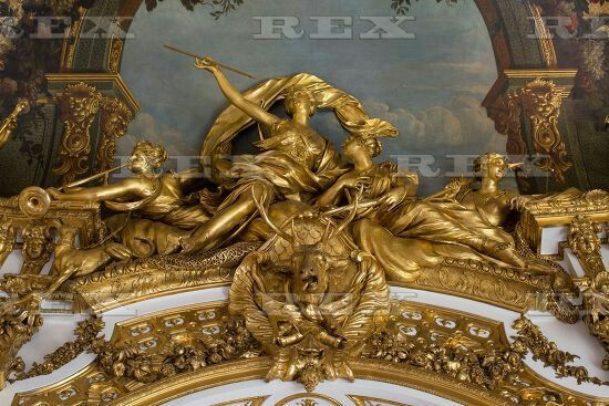 Restoration of the Golden Gallery, Banque de France, Paris, France - Jun 2015 Restoration work on the Golden Gallery Jun 2015