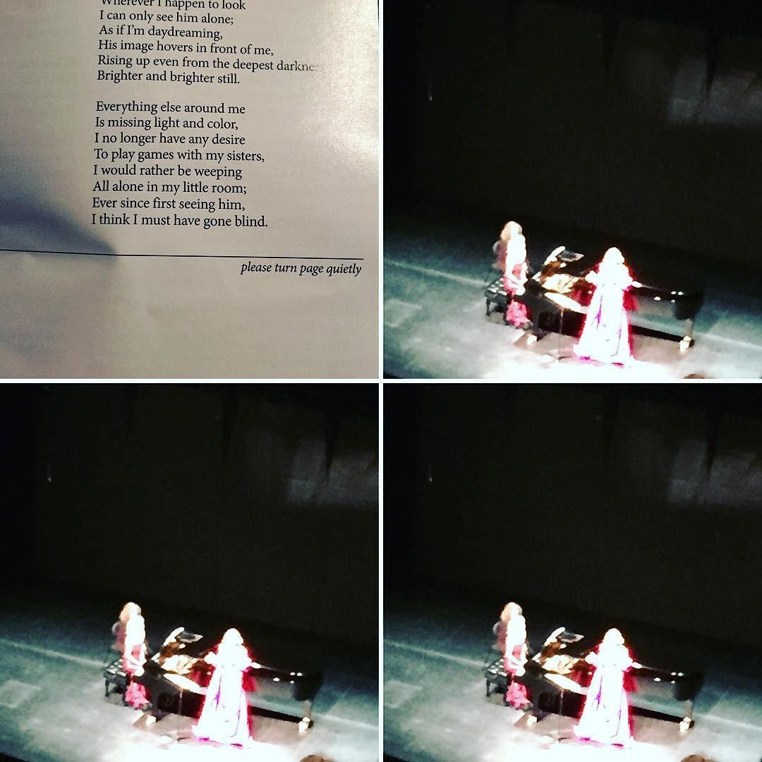 This was taken during a curtain call I swear. Saw and heard Renee Fleming in a beautiful recital and I wish my phone could capture her gorgeous red dress here. She was absolutely wonderful. There was even (for the Seven Year Itch fan)...Rachmaninoff! by thompsonlaurie1972