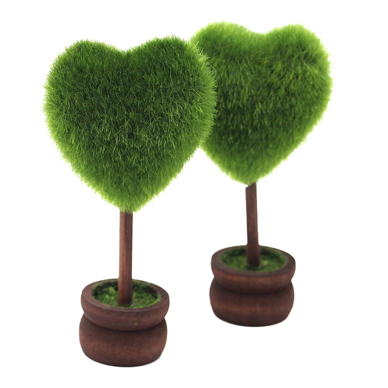 Keelorn Cute Heart Shape Artificial Plants , Decor Bonsai For
