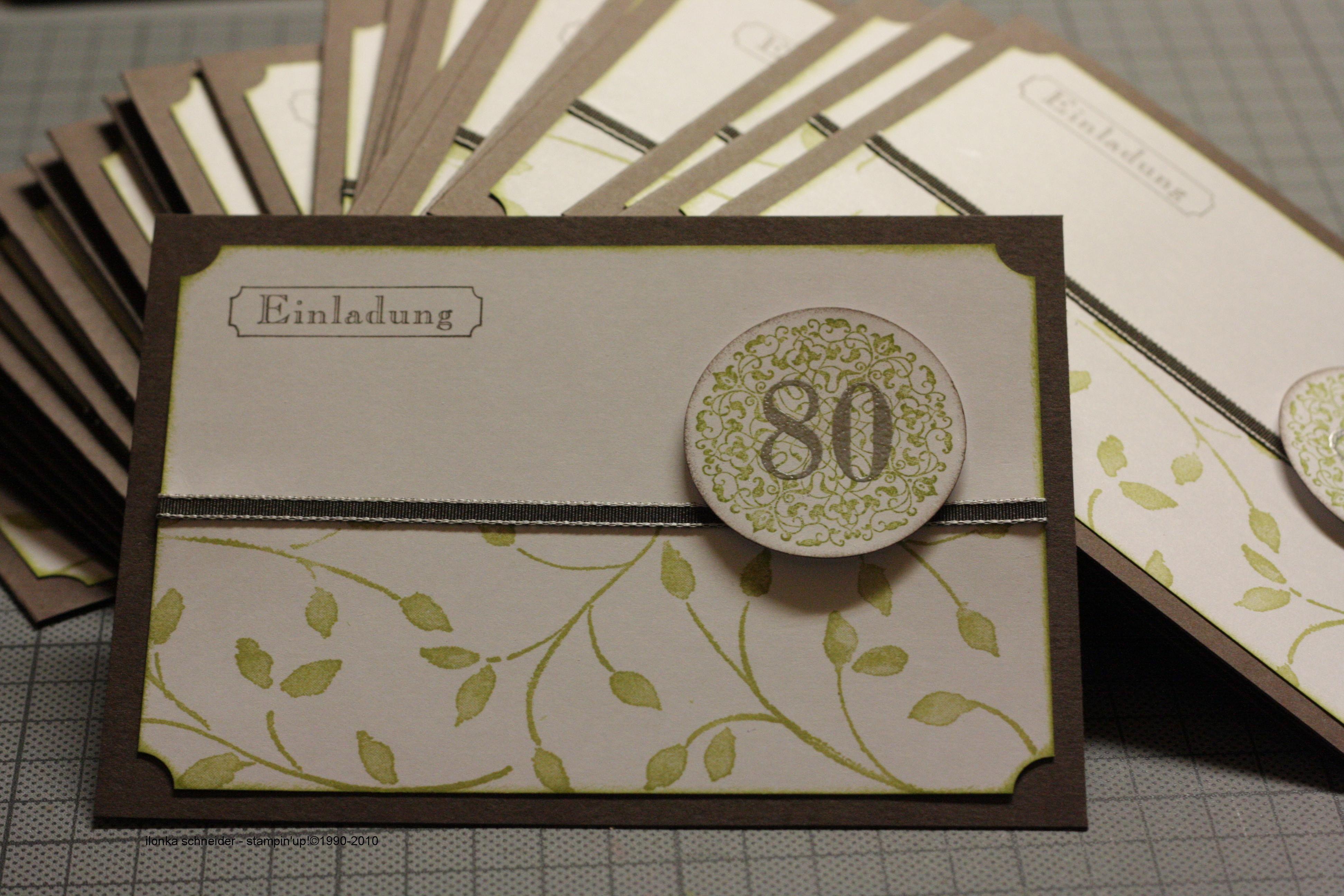 Einladungskarten 80 Geburtstag Angemessen