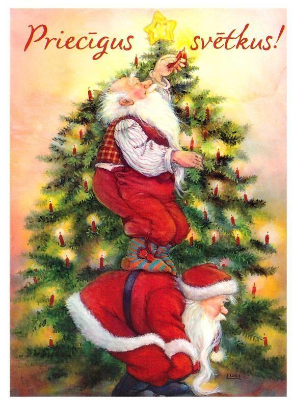 Lisi Martin, Christmas postcard 10 x 15, Latvia