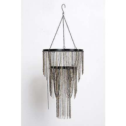 HOW TO COVER BRASS CHANDELIER IN RENTAL