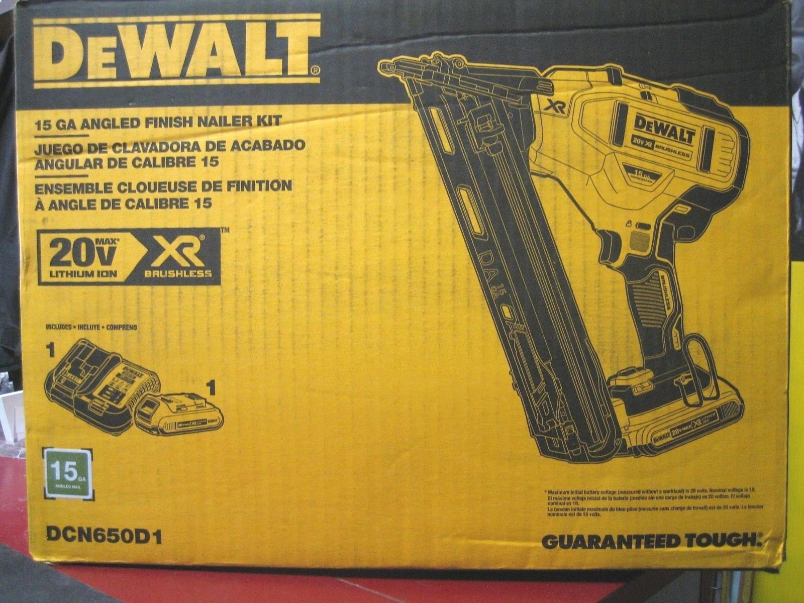 Nail And Staple Guns 122828 New Dewalt Dcn650d1 15 Ga Angled Finish Nailer Kit Buy It Now Only 290 On Ebay Dewalt Nailer Staple Guns