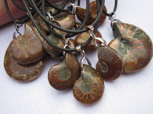 10pcs High quality natural stone fossil pendant pendulum Jurassic fossil pendants chakra healing suspension