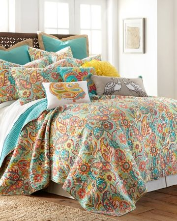 Palisades Paisley Quilt Collection Main View Bedroom Styles