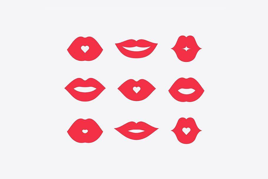 Women Lips Icon Set Lip Logo Icon Set Human Icon