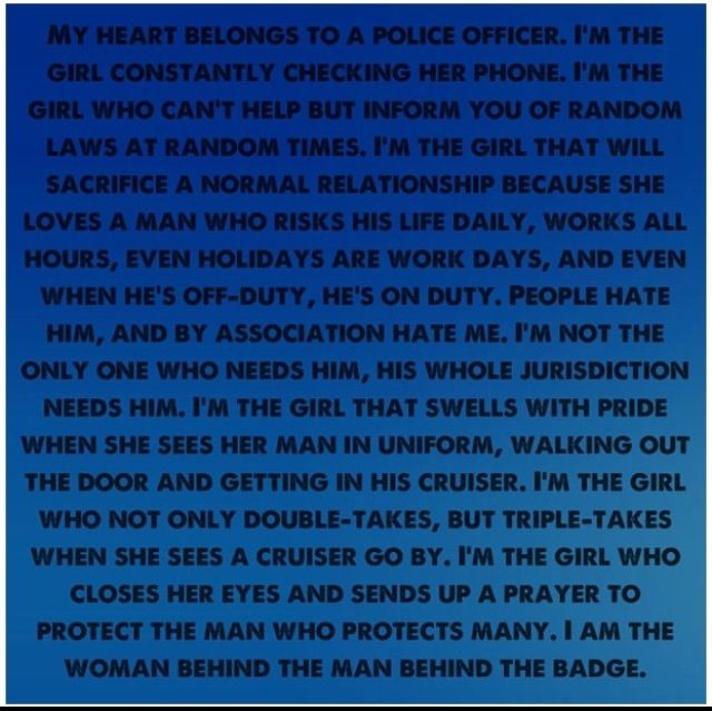 Police girlfriend , police quote , law enforcement officer ...
