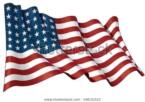 Illustration Waving Us 48 Star Flag Stock Vector Royalty Free 148131515