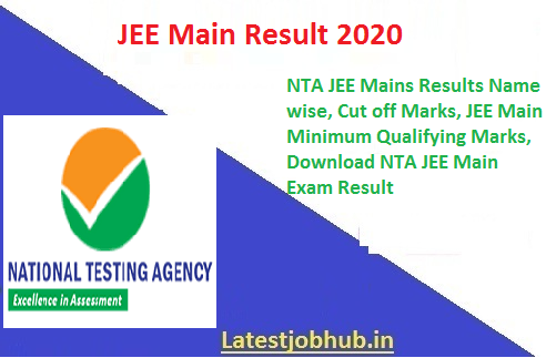 Nta Jee Mains Results 2020 Name Wise Nta Jee Main Cut Off Marks 2020 Jee Main Minimum Qualifying Marks Category Wise How To Download