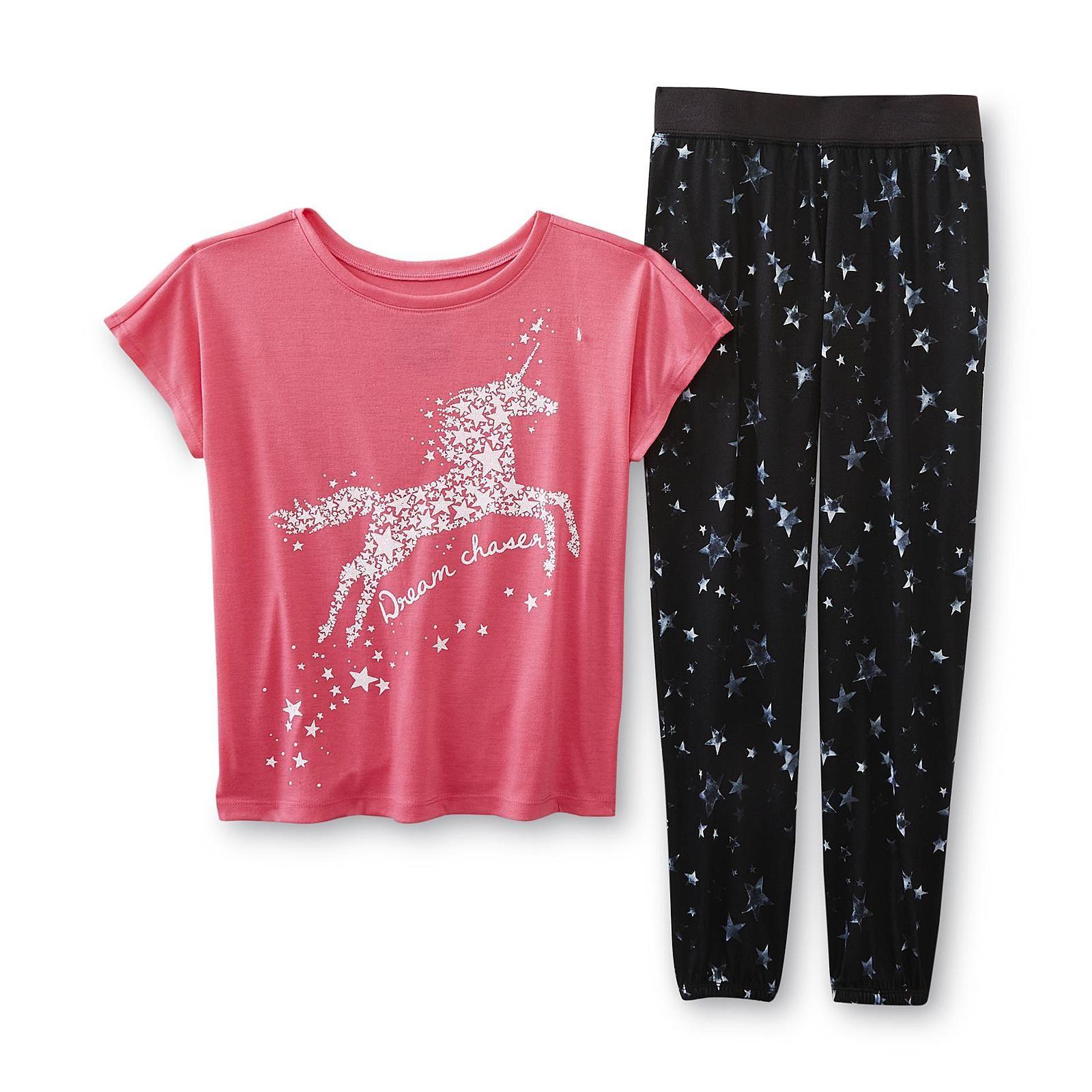 72b16b907404 Joe Boxer Girl s Pajama T-Shirt   Pants - Dream Chaser - Kids - Kids ...