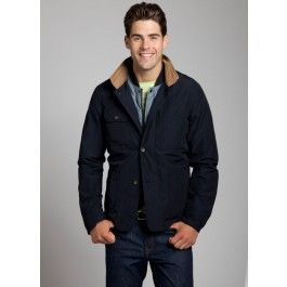 Jacket with Detach Lining - Navy