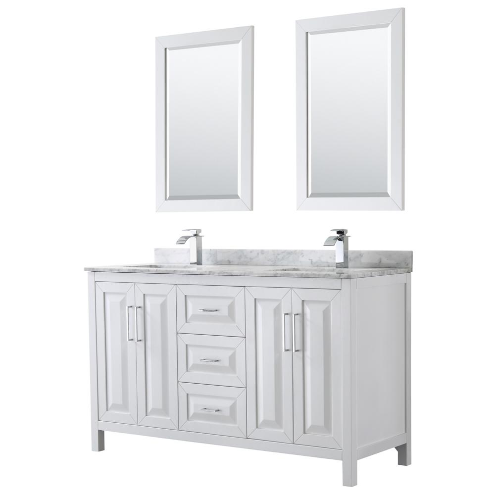 Wyndham Collection Daria 60 In Double Bathroom Vanity In White