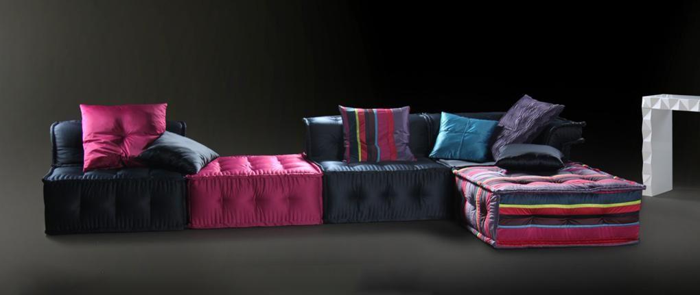 Chloe Ls103da Multi Colored Fabric Sectional Sofa Fabric