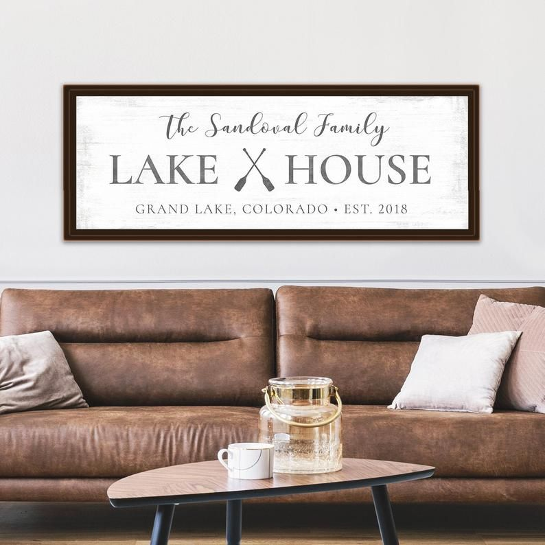 Custom Lake House Sign by Pretty Perfect Studio | Family Lake House Decor | Rustic Lake House Decorations | Personalized Lake House Prints