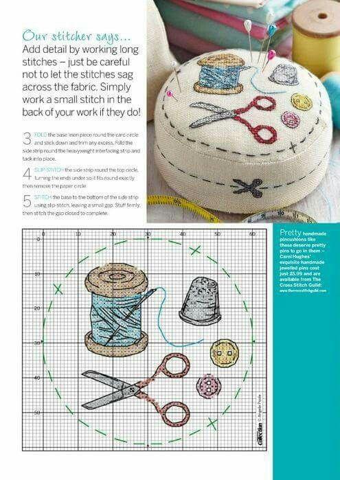 Material de costura | punt de creu | Pinterest | Bordado, Costura ...
