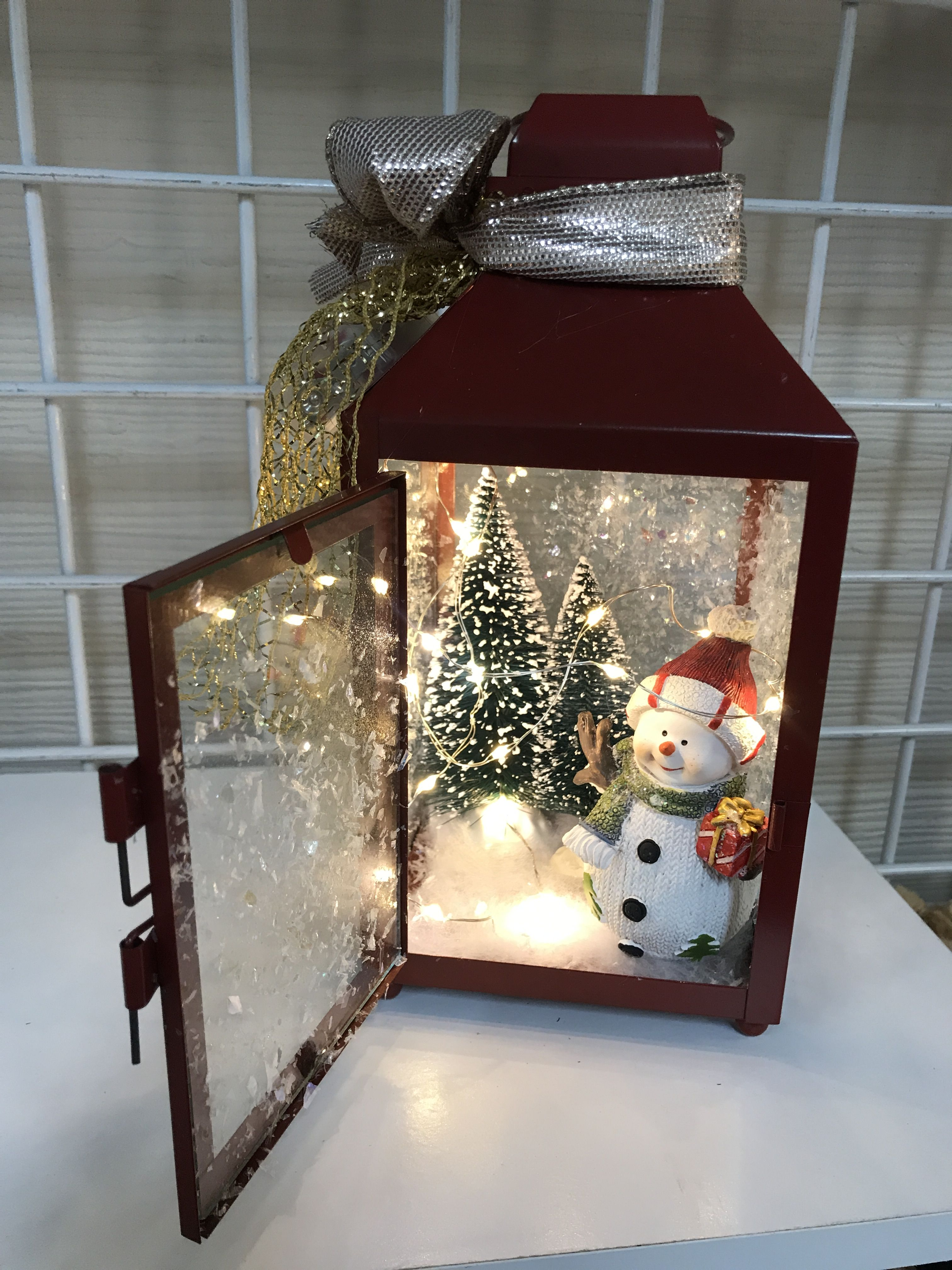 Snowy Christmas Lantern