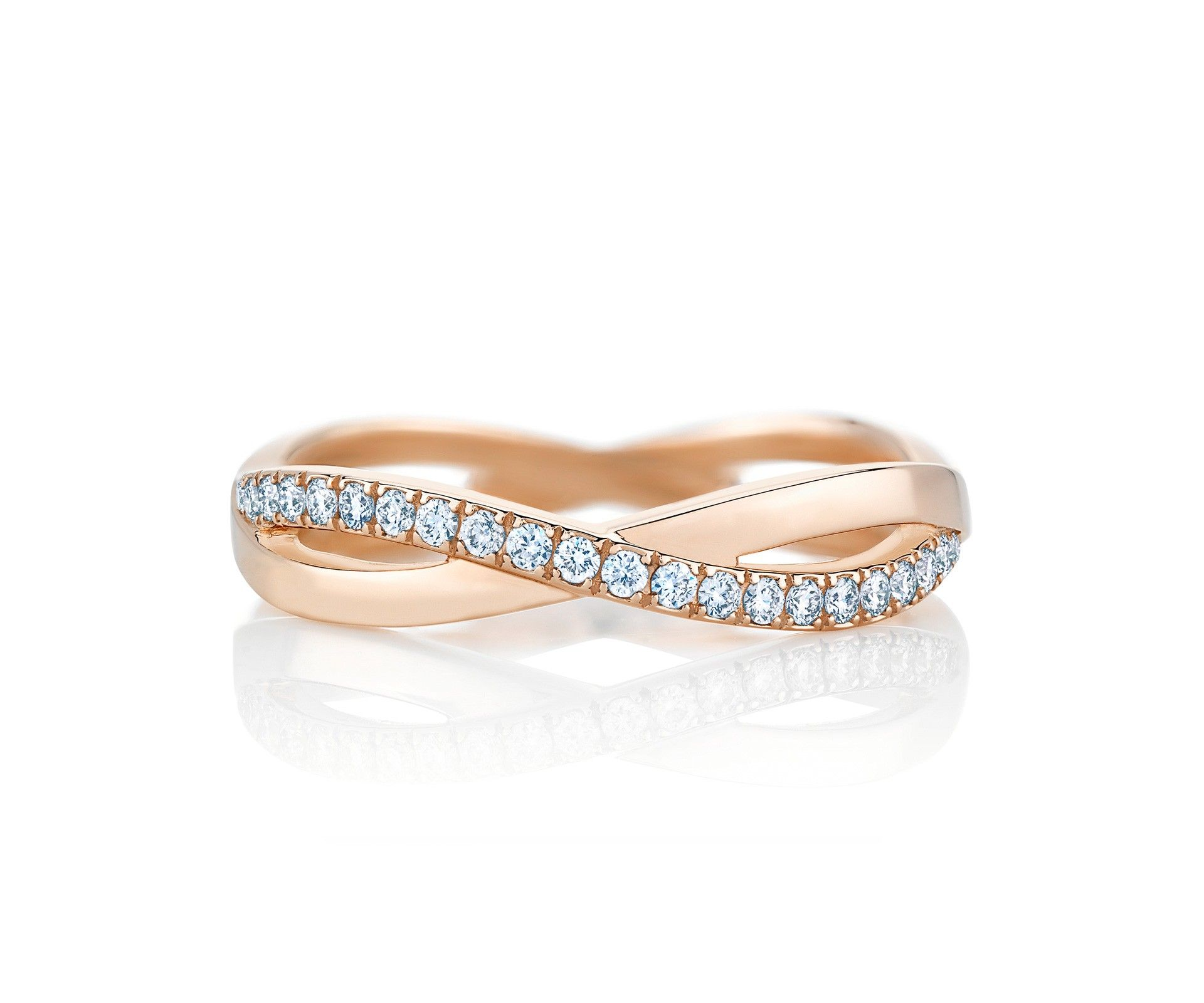 Infinity rose gold band jewellery de beers pinterest